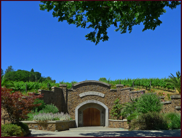Entrance to the caves at Truchard Vineyards. Photo: S Gaviller