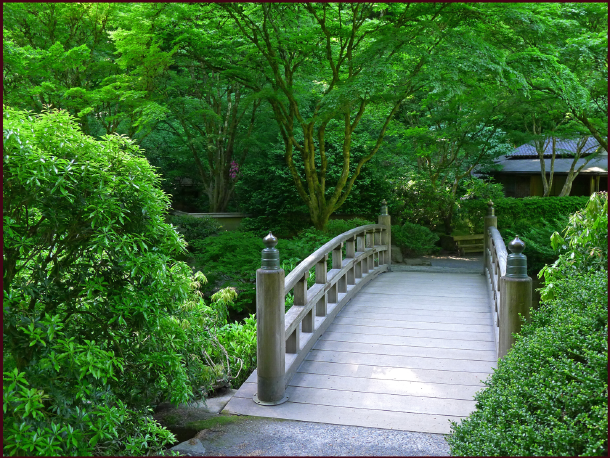 Portland Japanese Garden bridge