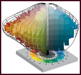 All colours are contained within the Munsell color solid. Image courtesy of Munsell ColorImage courtesy of Munsell Color