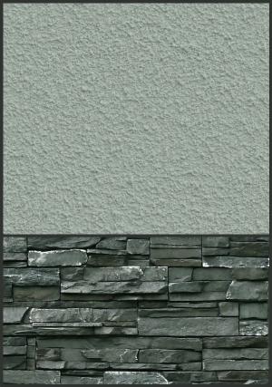 stone siding - warm
